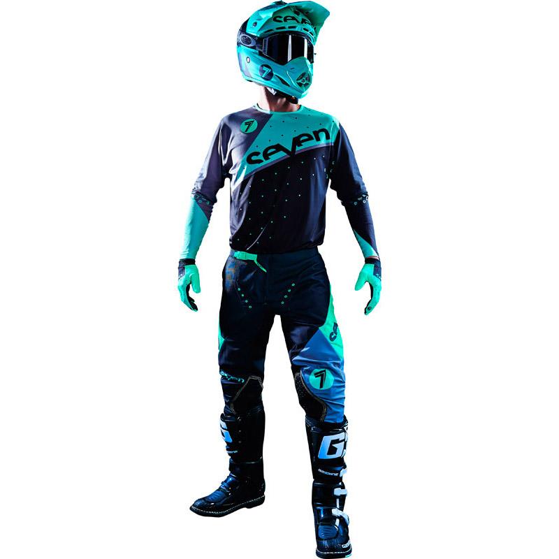 Seven - Zero Omni комплект штаны и джерси, черно-зеленые