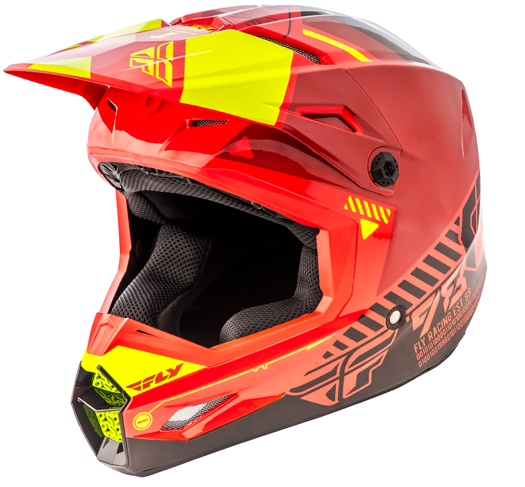 Fly - Kinetic Elite Onset шлем, красно-черно-желтый