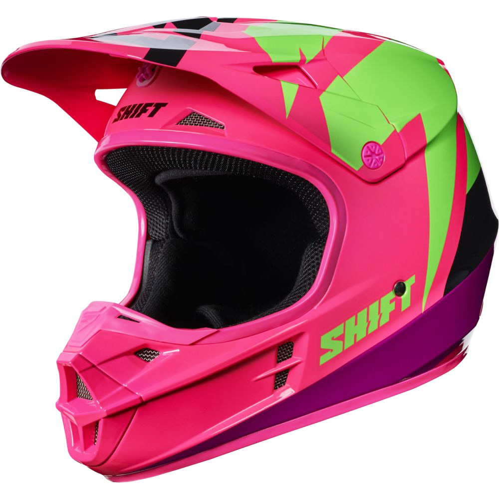 Shift - 2017 WHIT3 Tarmac шлем, черно-розовый