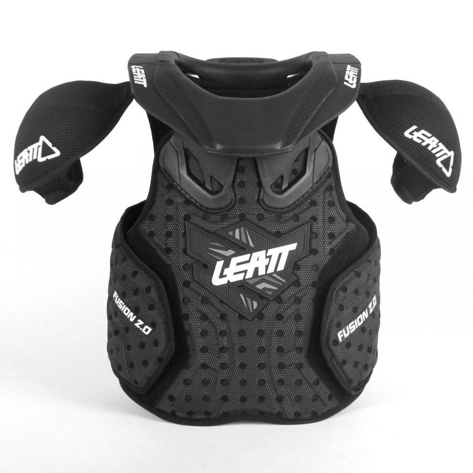 Leatt - 2017 Fusion 2.0 Vest Junior защита торса (панцирь, шея) подростковая, черная