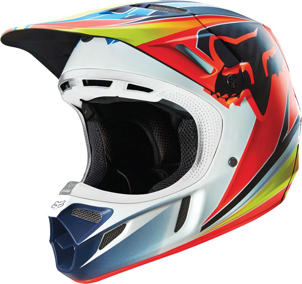 Fox - V4 Race шлем, сине-красный
