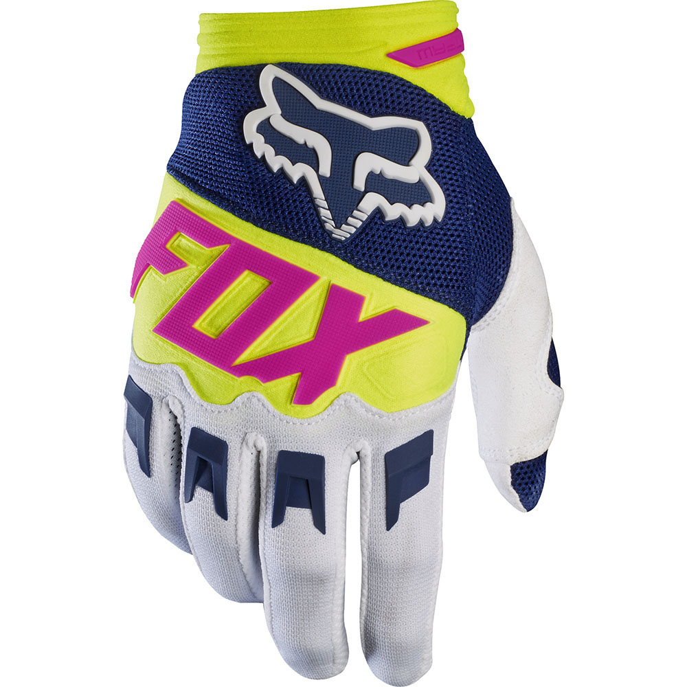 Fox - 2017 Dirtpaw Race перчатки, сине-белые