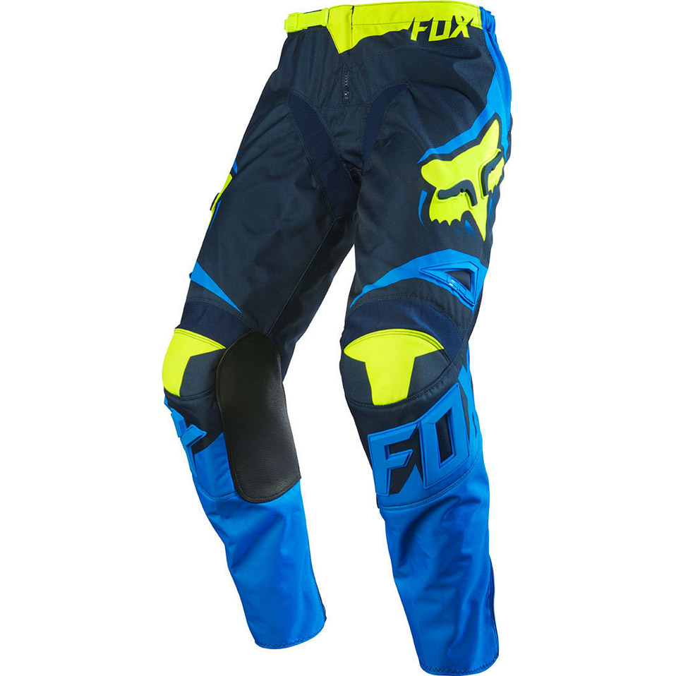 Fox - 180 Race штаны, сине-желтые