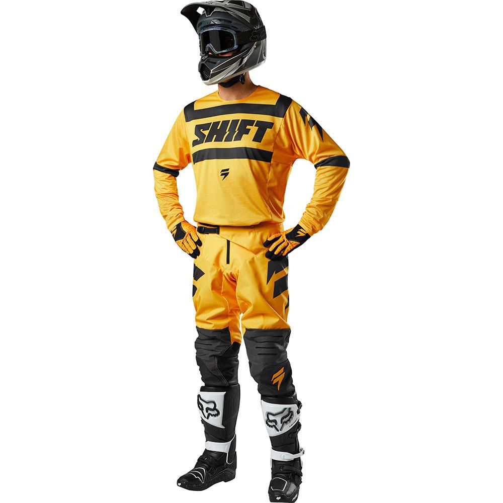 Shift - 2018 3Lack Label Strike комплект джерси и штаны, желтый