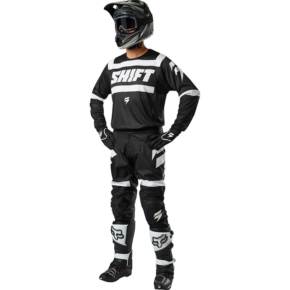 Shift - 2018 3Lack Label Strike комплект джерси и штаны, черно-белый