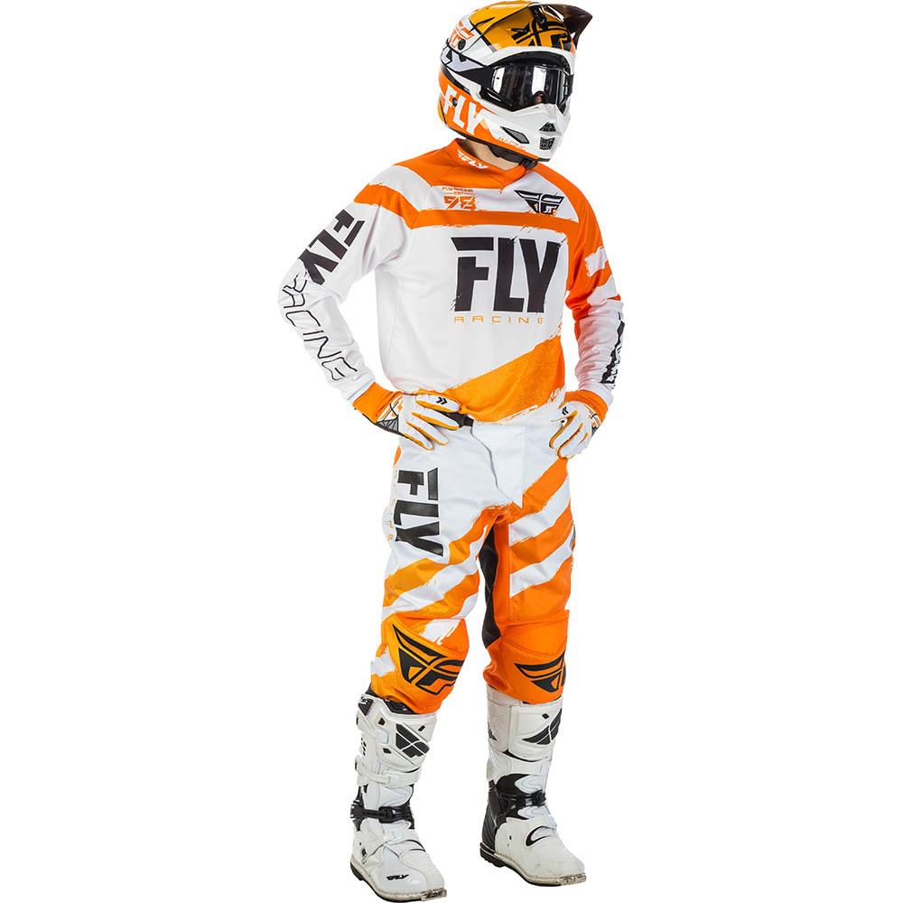 Fly - 2018 F-16 комплект джерси и штаны, оранжево-белый