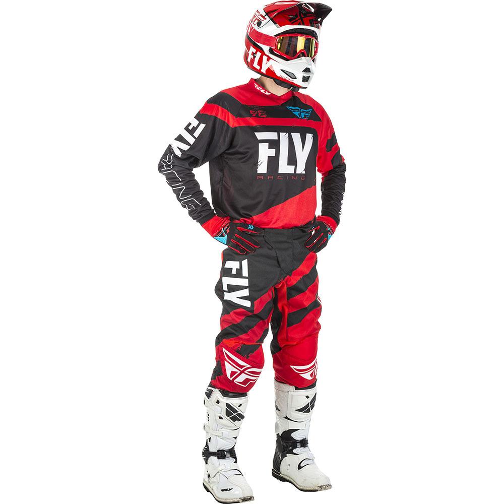 Fly - 2018 F-16 комплект джерси и штаны, красно-черный