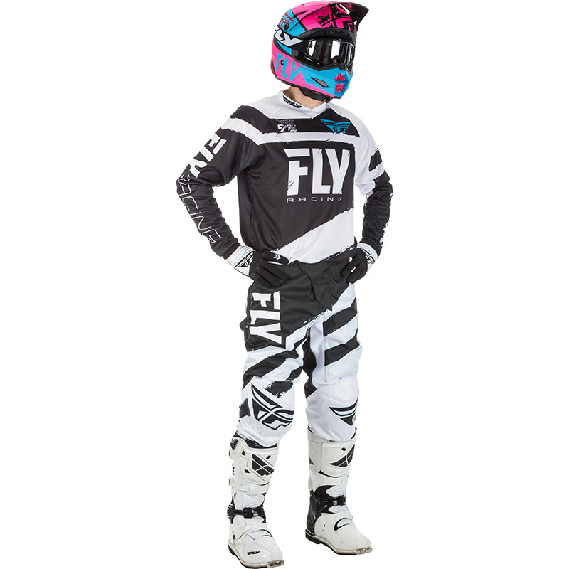 Fly - 2018 F-16 комплект джерси и штаны, черно-белый