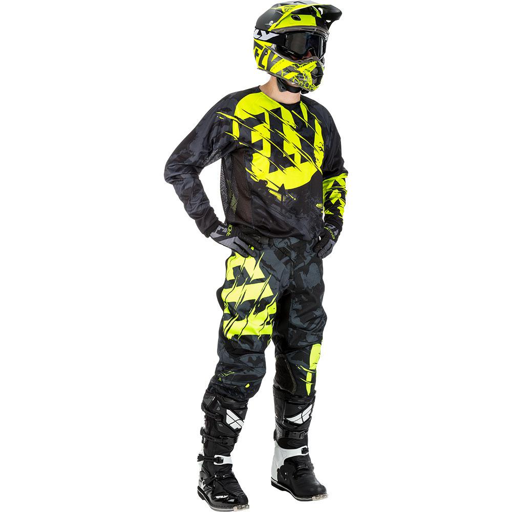 Fly - 2018 Kinetic Outlaw комплект джерси и штаны, черно-желтый