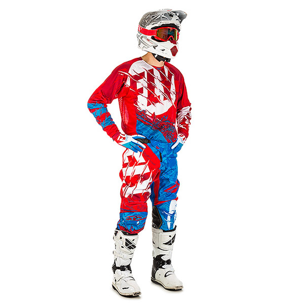 Fly - 2018 Kinetic Outlaw комплект джерси и штаны, красно-синий