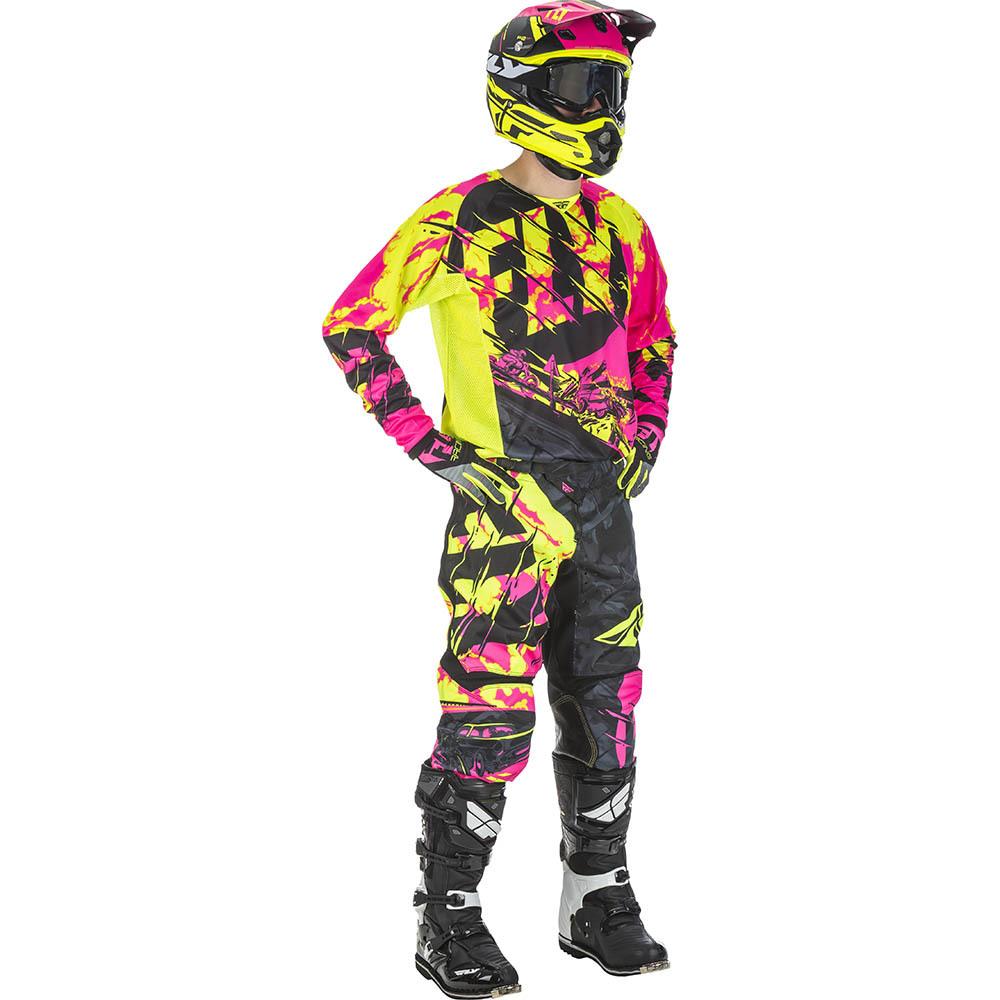 Fly - 2018 Kinetic Outlaw Neon комплект джерси и штаны, розово-желтый