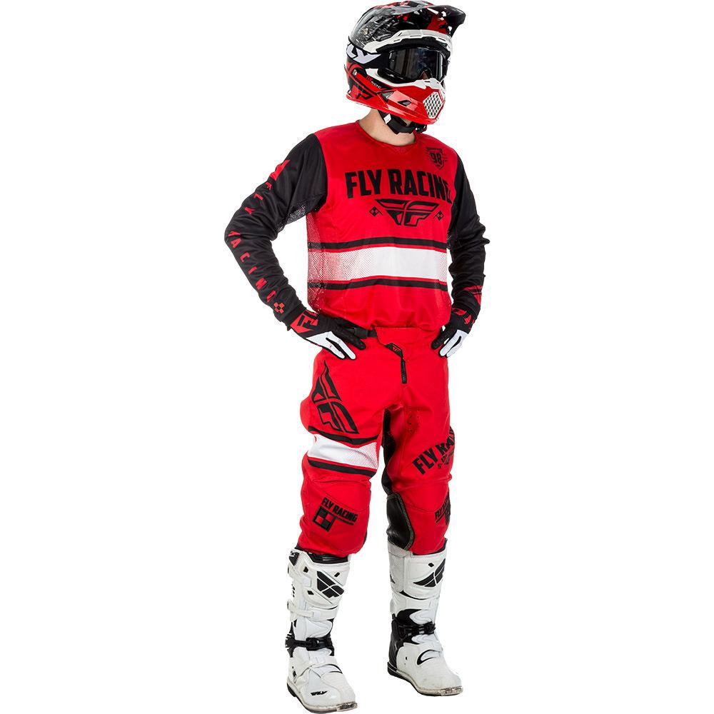 Fly - 2018 Kinetic Era комплект джерси и штаны, красно-черный