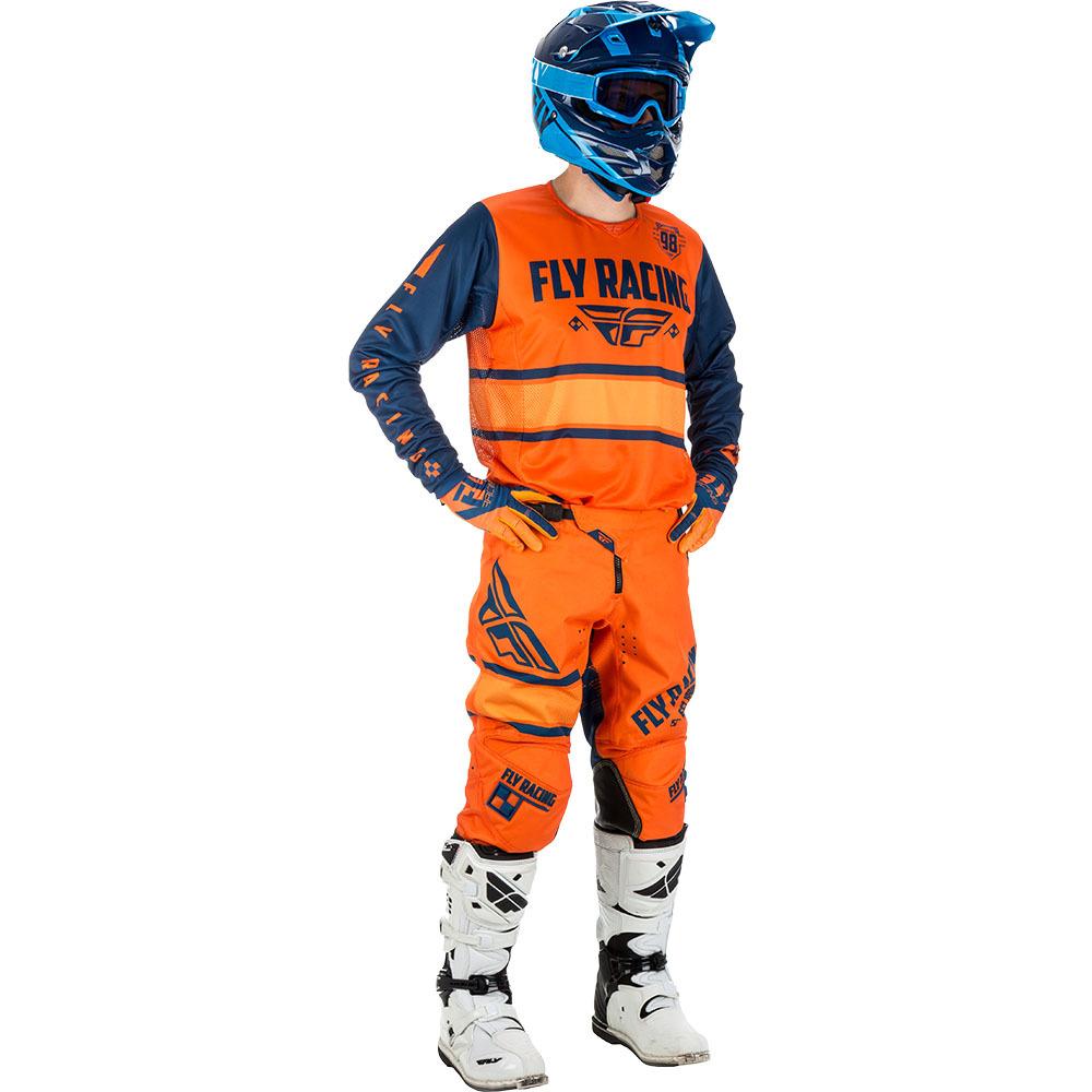 Fly - 2018 Kinetic Era комплект джерси и штаны, сине-оранжевый