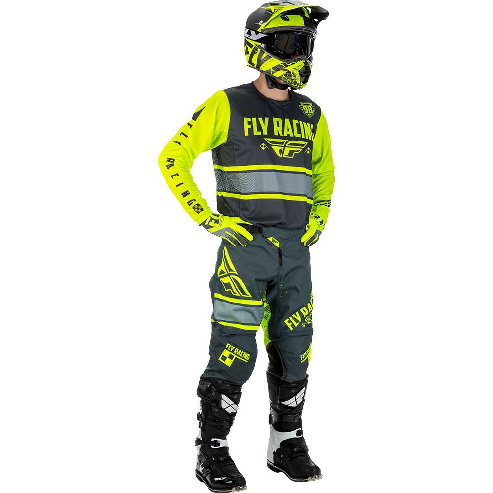Fly - 2018 Kinetic Era комплект джерси и штаны, серый Hi-Vis