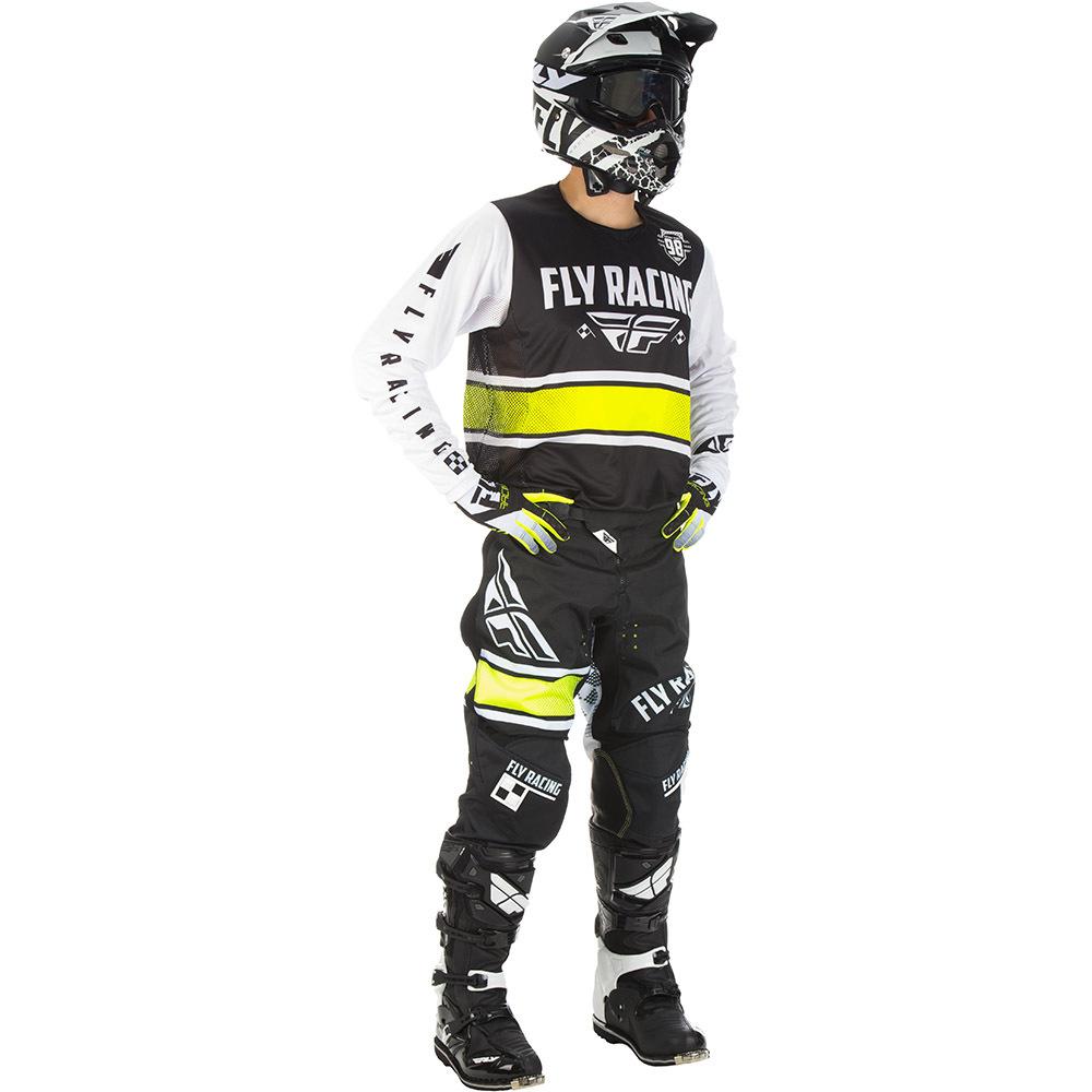 Fly - 2018 Kinetic Era комплект джерси и штаны, черно-белый
