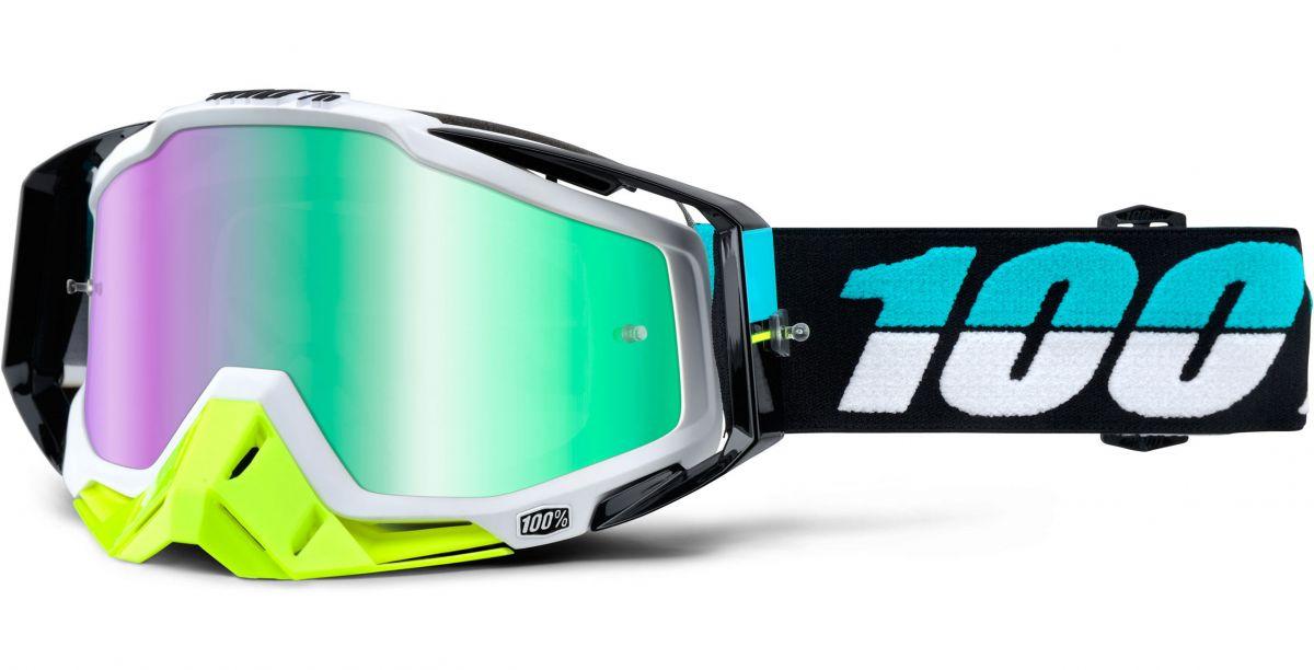 100% - Racecraft St Barth очки, линза зеркальная, зеленая