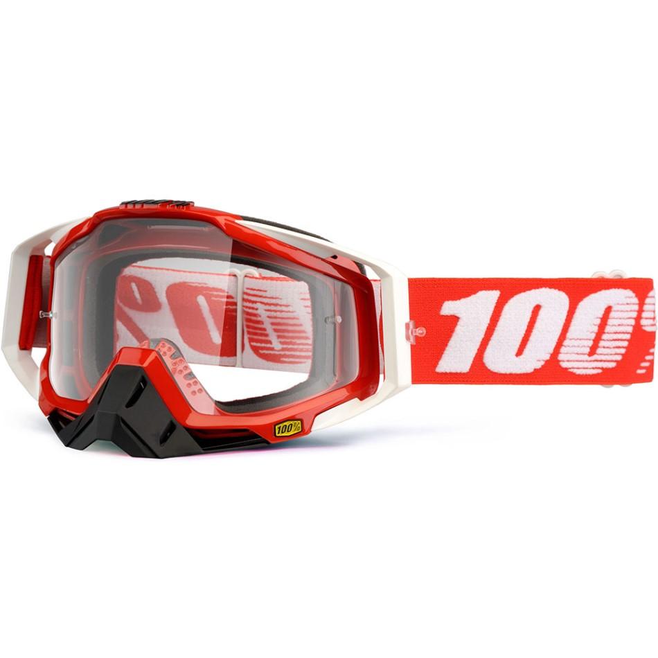 100% - Racecraft Fire Red очки, прозрачная линза