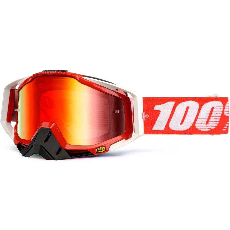 100% - Racecraft Fire Red очки, линза зеркальная, красная