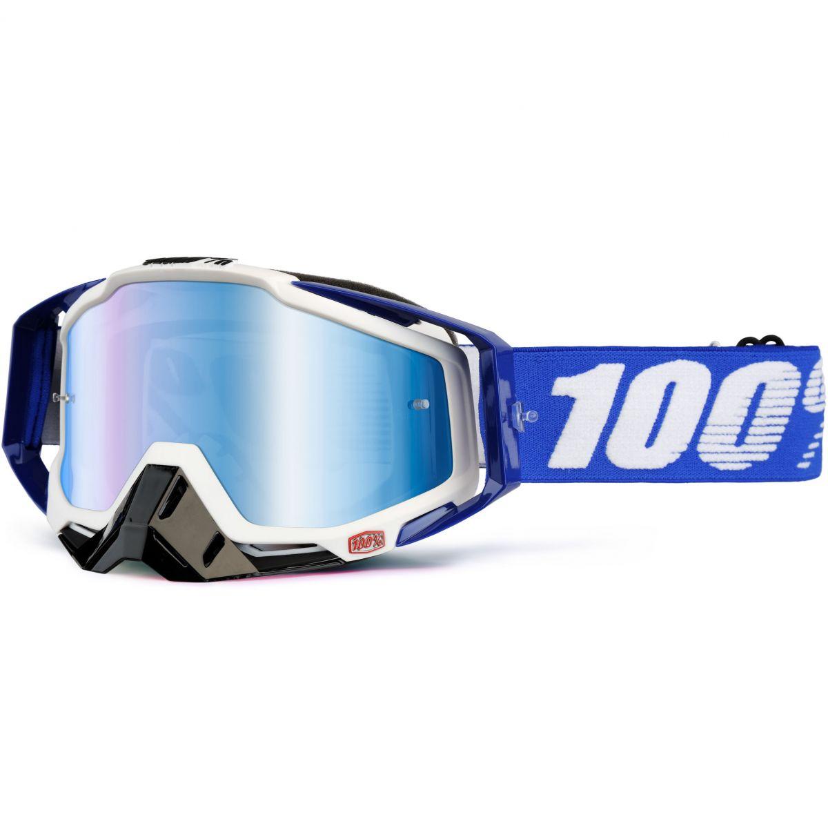 100% - Racecraft Cobalt Blue очки, линза зеркальная, синяя