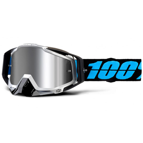 100% - Racecraft Plus Daffed Silver Mirrored Lens, очки