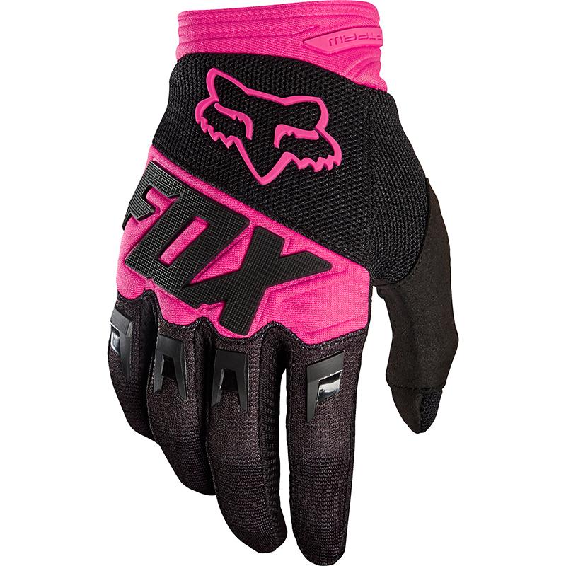 Fox - 2018 Dirtpaw Race Youth Black/Pink перчатки подростковые, черно-розовые
