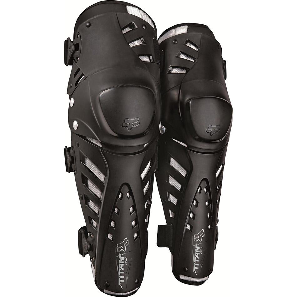 Fox - 2018 Titan Pro Knee CE Black защита колена и голени, черная