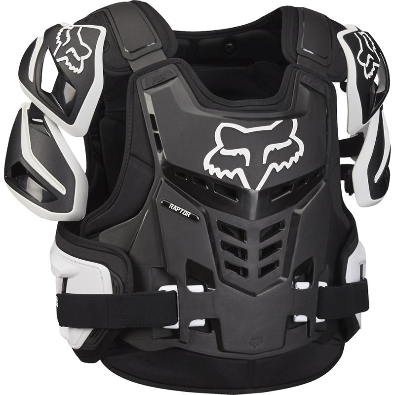 Fox - 2018 Raptor Vest CE Black/White жилет защитный черно-белый