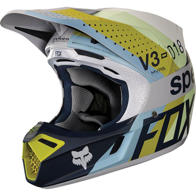 Fox - 2018 V3 Draftr LT Grey ECE шлем, светло-серый