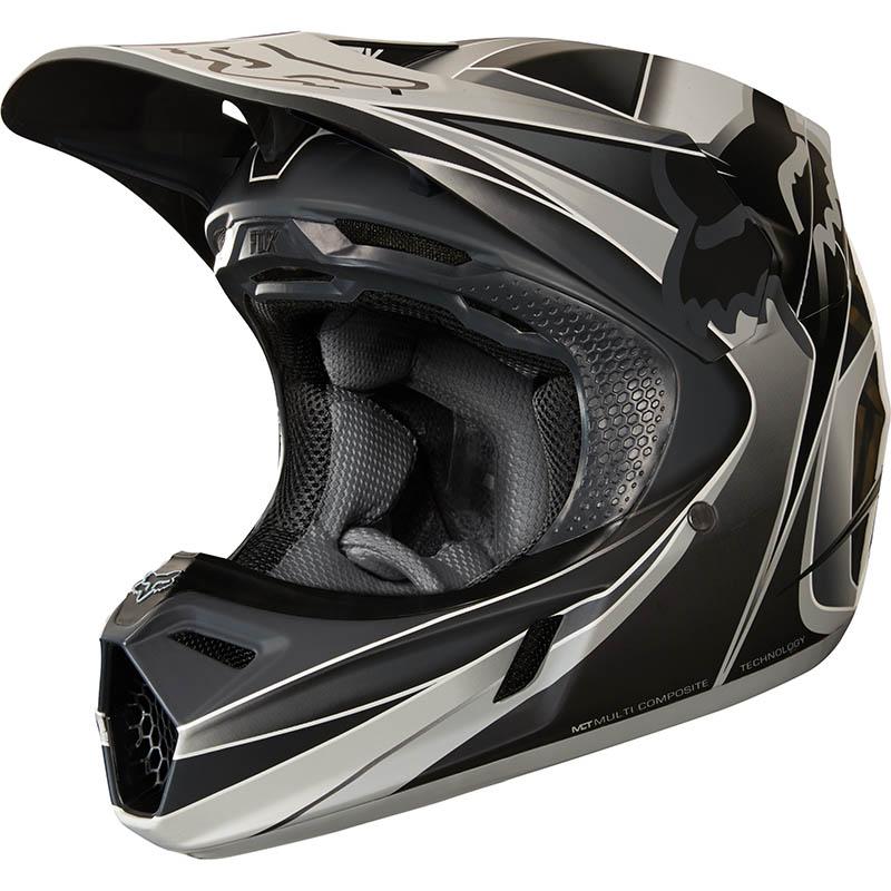 Fox - 2018 V3 Kustm Grey ECE шлем, серый