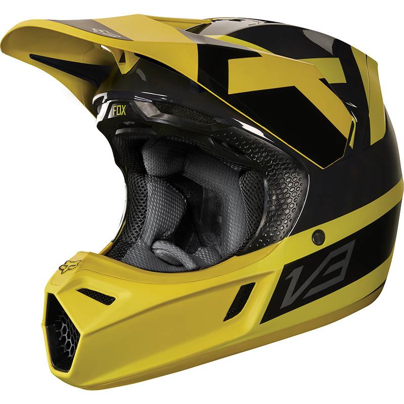 Fox - 2018 V3 Preest Dark Yellow ECE шлем, темно-желтый