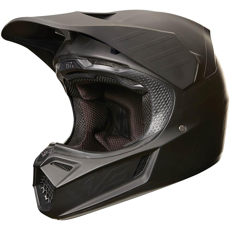 Fox - 2018 V3 Matte Carbon Black ECE шлем, черный матовый