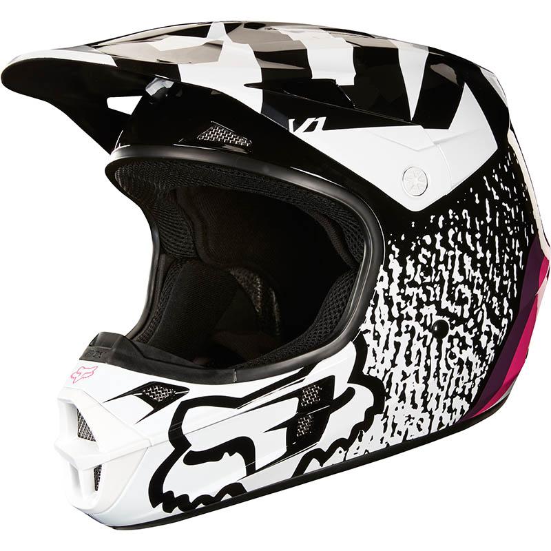 Fox - 2018 V1 Halyn Black/Pink ECE шлем, черно-розовый