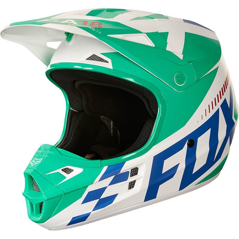 Fox - 2018 V1 Sayak Green ECE шлем, зеленый