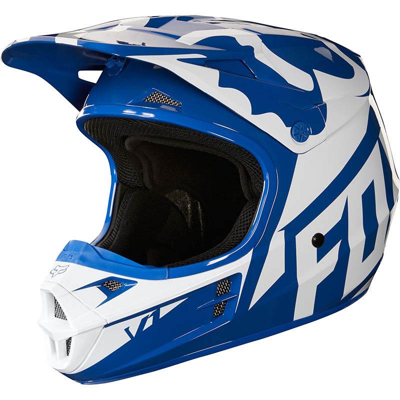 Fox - 2018 V1 Race Blue ECE шлем, синий