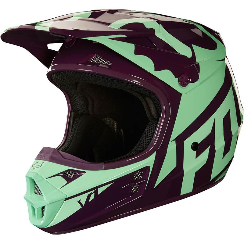 Fox - 2018 V1 Race Green ECE шлем, зеленый