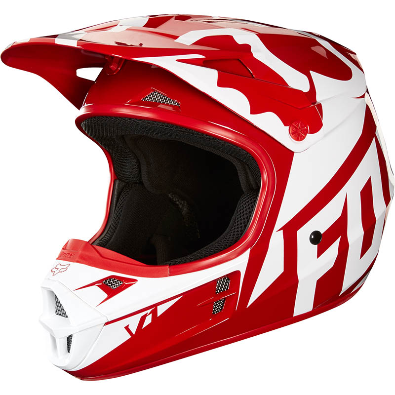 Fox - 2018 V1 Race Red ECE шлем, красный