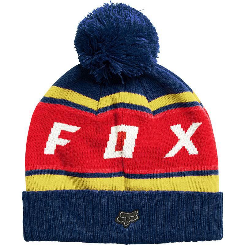 Fox - 2017 Black Diamond Pom Beanie Dust Blue шапка, черная синяя