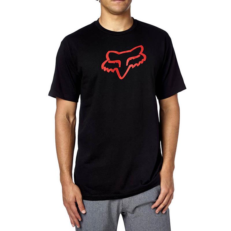 Fox - 2017 Legacy Foxhead SS Tee Black/Red футболка, черно-красная