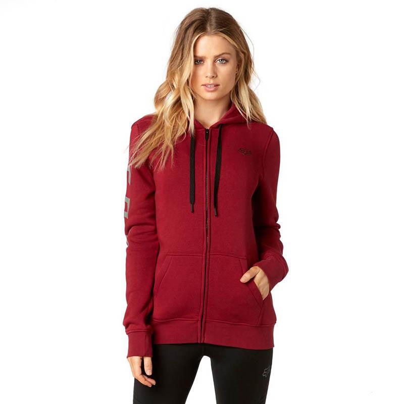 Fox - 2017 Affirmed Zip Fleece Dark Red толстовка женская, красная