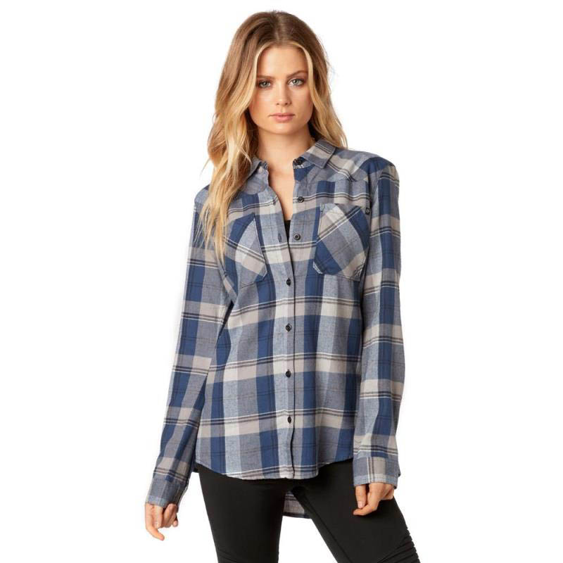 Fox - 2017 Flown Flannel Dust Blue рубашка женская, синяя