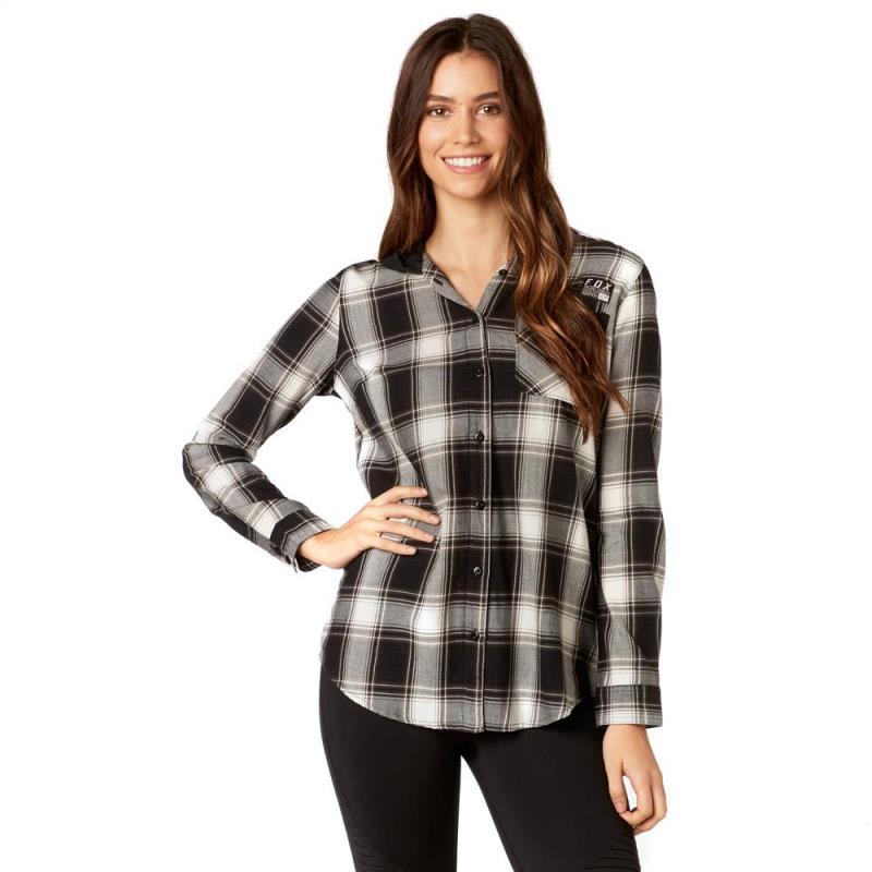 Fox - 2017 Deny Flannel Black рубашка женская, черная