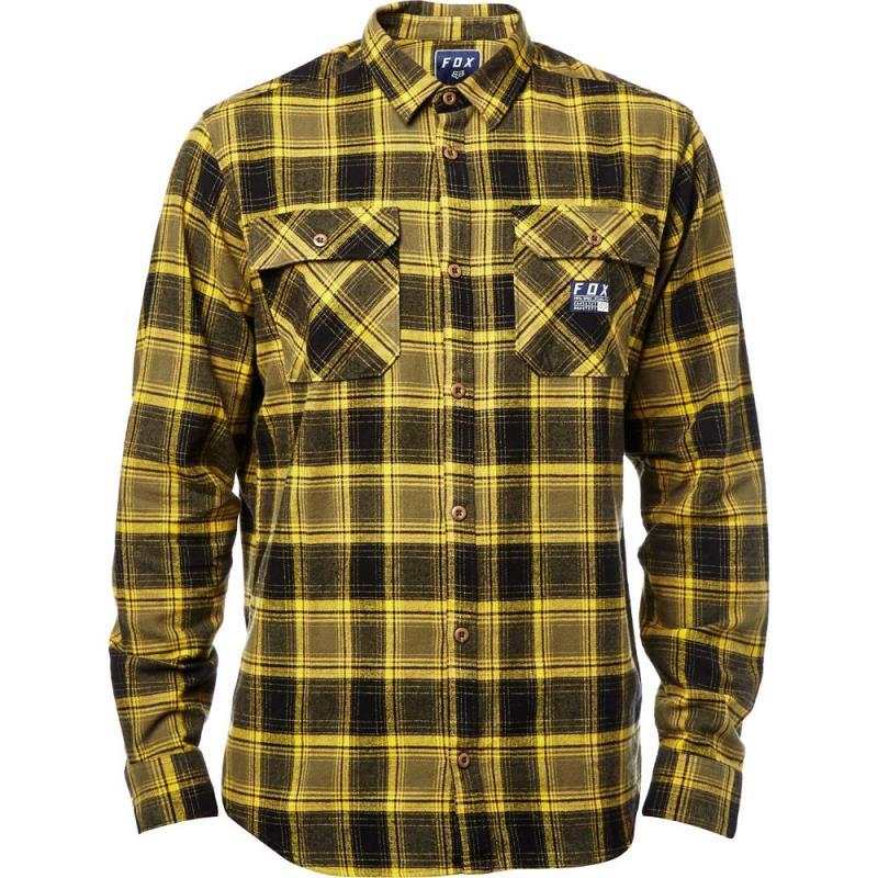 Fox - 2017 Traildust Flannel Dark Fatigue рубашка, темно-желтая