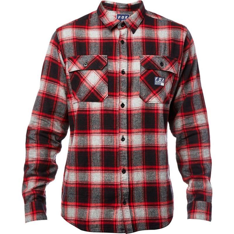 Fox - 2017 Traildust Flannel Heather Graphite рубашка, серая