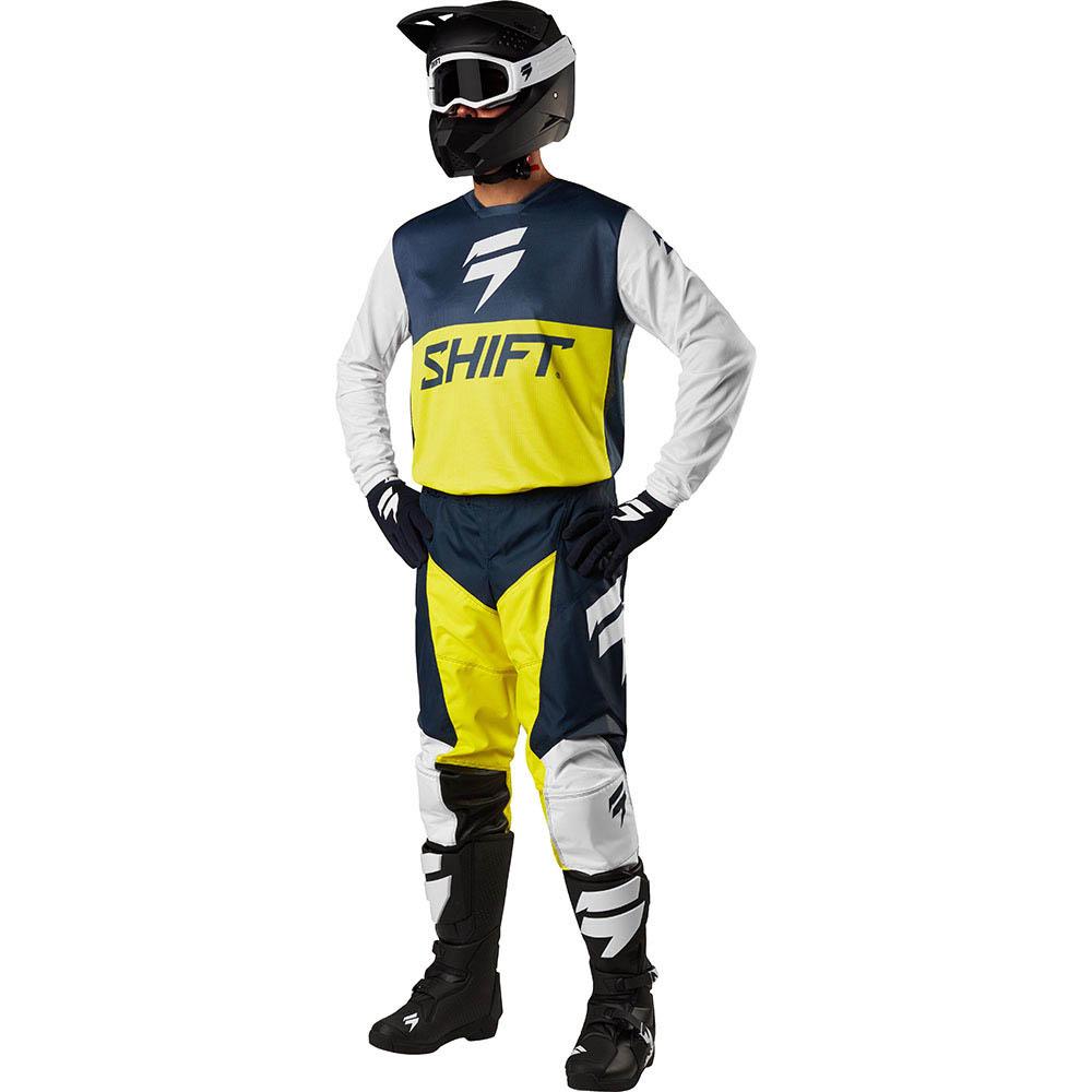Shift - 2018 Whit3 Label GP Limited Edition Navy/Yellow комплект джерси и штаны, сине-желтый